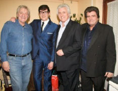 Shadow Bruce Welch (2nd from right) at an Amersham concert with Bill Bonney (The Fentones), Colin Pryce-Jones (The Rapiers) & 60s singer Danny Rivers.